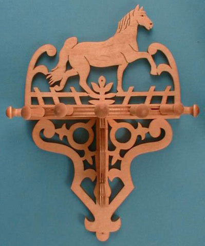 Horse Themed Organizer Rack Patterns - scroll saw patterns and projects