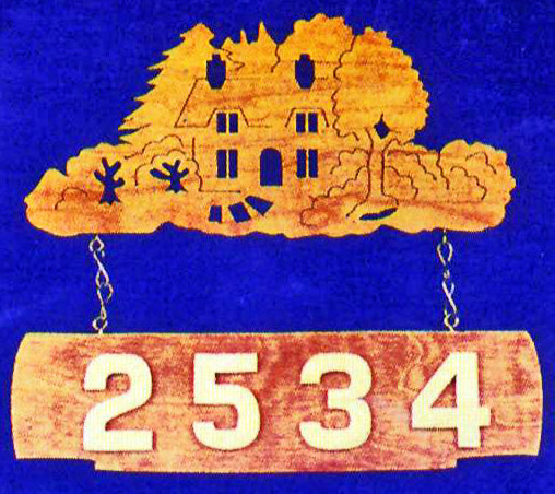 Country Home Number Plaque Patterns