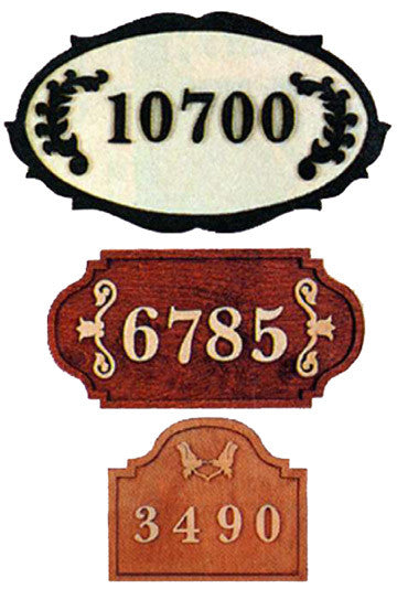 Estate Sign with Numbers Patterns - 3 Designs - scroll saw patterns and projects