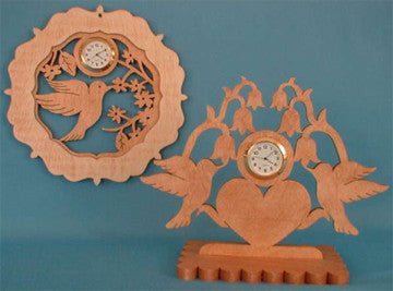 Hummingbird Mini Clock Patterns - scroll saw patterns and projects