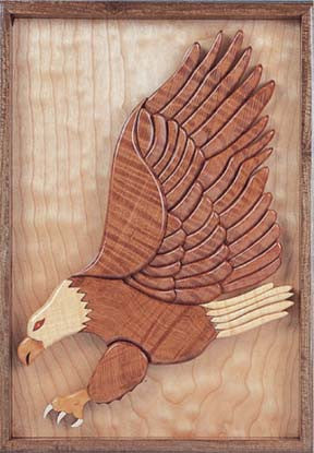 Hunting Eagle Intarsia Scroll Saw Pattern - scroll saw patterns and projects
