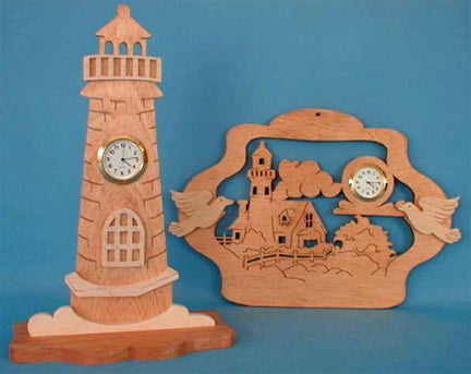 Lighthouse & Nautical Mini Clock Patterns