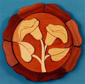 Lily Intarsia Scrollsaw Pattern - scroll saw patterns and projects