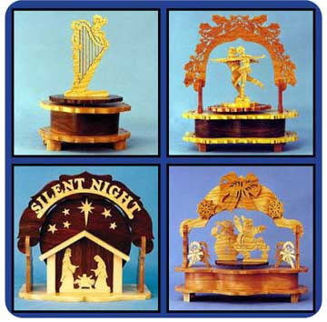 Downloadable Music Box Value Pack of Patterns - scroll saw patterns and projects