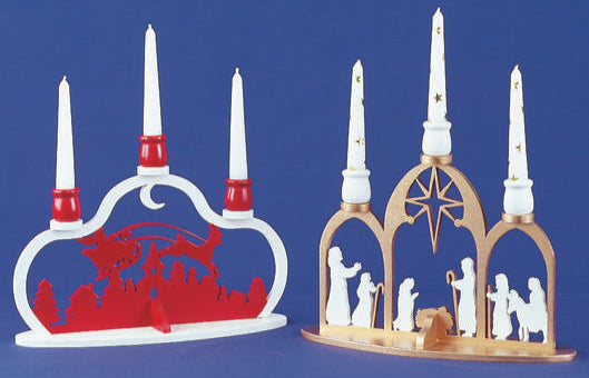 Nativity & Santa Candle Display Patterns