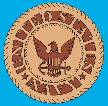 Navy Insignia Scroll Saw Pattern - scroll saw patterns and projects