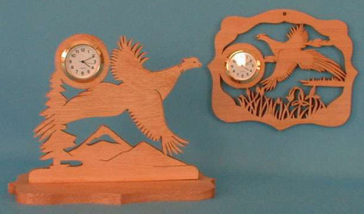 Flying Pheasants Mini Clock Patterns