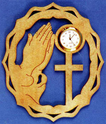Praying Hands Mini Wall Clock Pattern