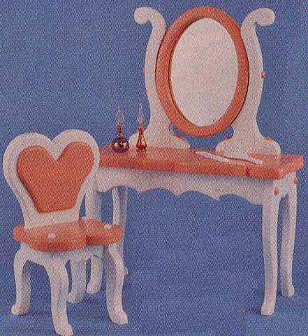 Princess Vanity w/ Mirror & Chair Patterns - scroll saw patterns and projects