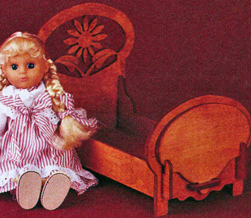 Easy Take Down Floral Doll Bed Patterns - scroll saw patterns and projects