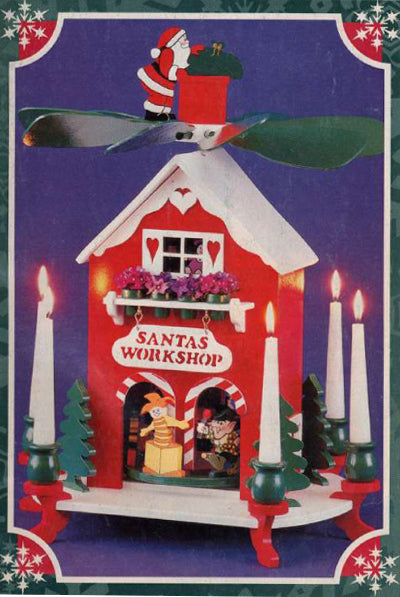 Santa's Workshop Candle Carousel Patterns
