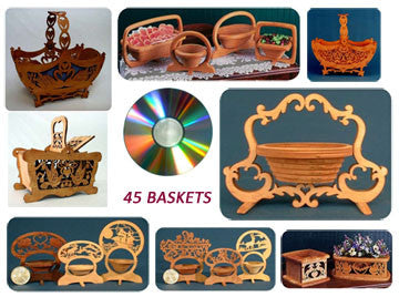 45 Scrolled Basket Patterns on Wooden USB - scroll saw patterns and projects
