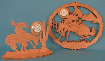 Southwestern Themed Mini Clock Patterns - scroll saw patterns and projects