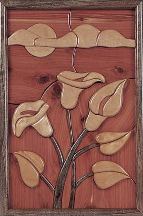 Spring Delight Intarsia Pattern - scroll saw patterns and projects