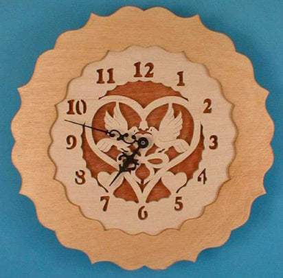 Love Birds Sweetheart Clock Pattern