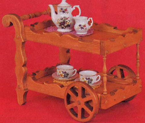 Dolly Tea Cart Patterns - scroll saw patterns and projects