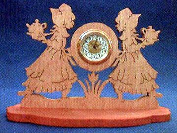 Tea Maidens Mini Clock Pattern