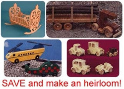 Wooden Toys Value Pack of Patterns -- for Download - Scrollsaw.com