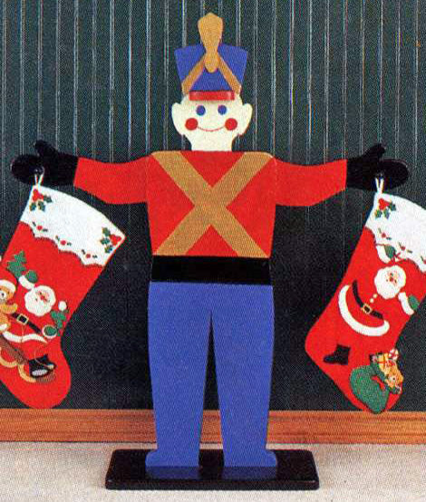 Toy Soldier Stocking Holder Pattern