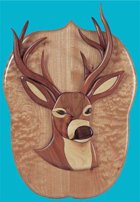 Trophy Buck Intarsia Patterns - scroll saw patterns and projects