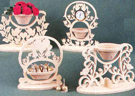Victorian Collapsible Baskets Patterns Set