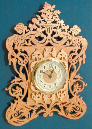 Victorian Vase Wall Clock Patterns