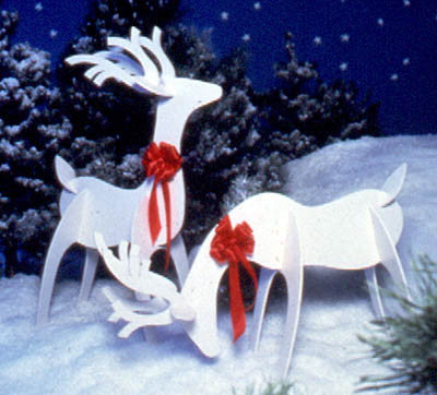 Full size woodworking patterns for Christmas reindeer project yard display
