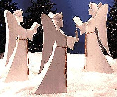 Woodworking pattern for angels and Christmas project for yard display
