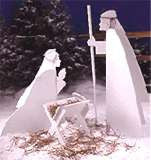 Christmas Nativity scene woodworking patterns for yard display project plans