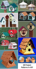Bird house plans and patterns for birdfeeders and birdhouses