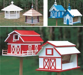 A Value Pack with 28 Birdhouse & Feeder Patterns by Mail