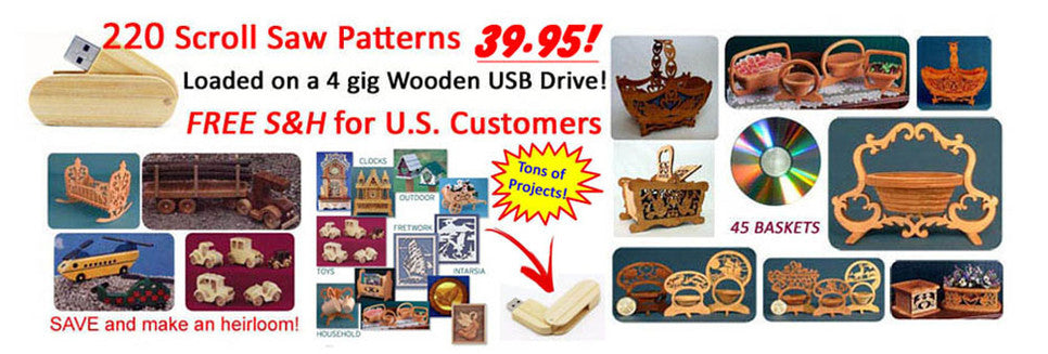 Scroll saw patterns clock toys basket value packs for download or by mail for scrolling