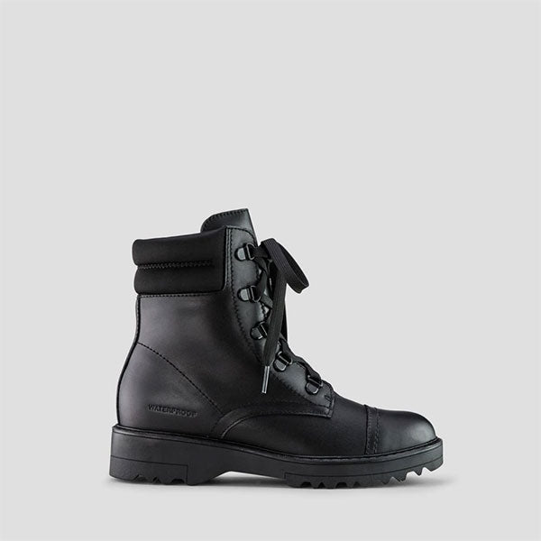 Gwen Leather Ankle Boot - Black