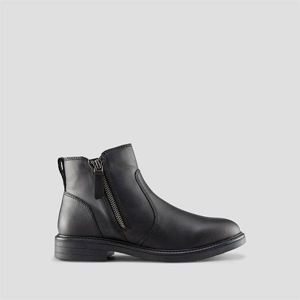 Harley Leather Ankle Boot - Black
