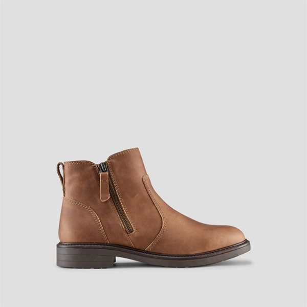 Harley Leather Ankle Boot - Cask