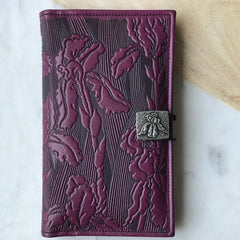 Leather Women's Wallets, Iris in Orchid by Oberon Design