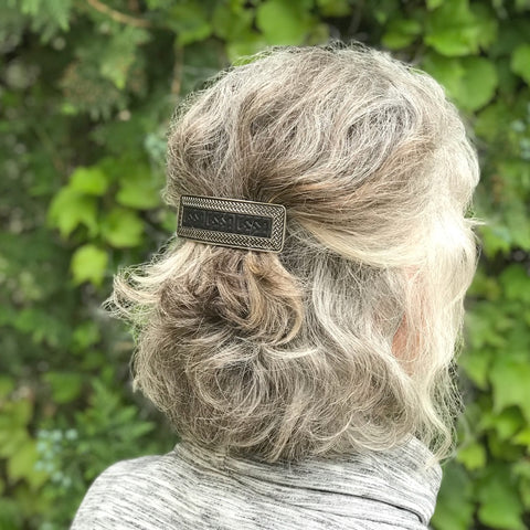 Leather and Metal Hair Clip by ecolemamie