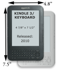 Amazon Kindle 3 / Keyboard Dimensions