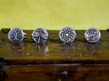 Hand Cast Britannia Metal Women's Rings