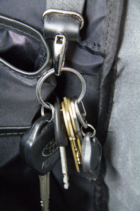 Crosstown Messenger Bag Detail  Key Hook