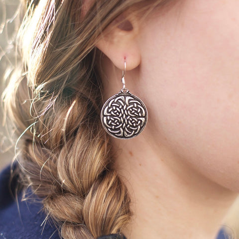 Hand Cast Britannia Metal Earrings by ecolemamie