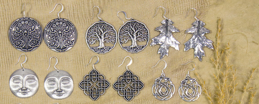 Oberon Design Handcrafted Britannia Metal Earrings