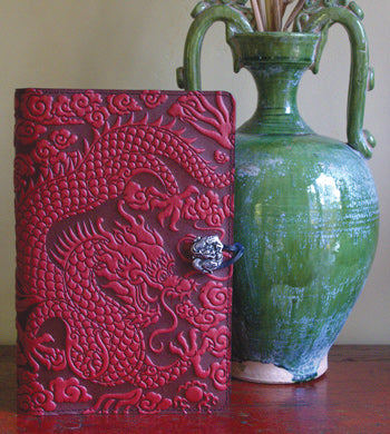 Leather Moleskine Notebook Cover - Cloud Dragon