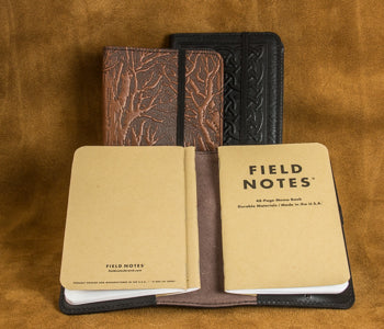 Leather Pocket Notebook Cover with Field Notes
