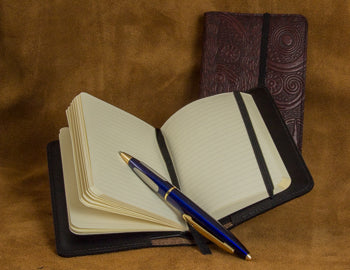 Leather Notebook Cover with Rhodia Pocket Notebook
