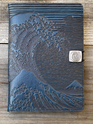 Leather iPad Mini Cover, Hokusai Wave by ecolemamie