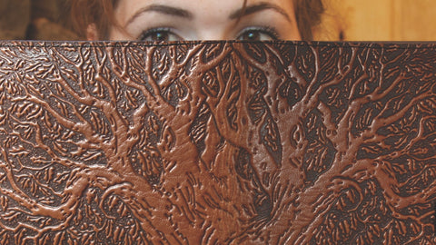 Leather Tree of Life Kindle Cover by ecolemamie