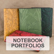Small Leather Notebook Portfolios