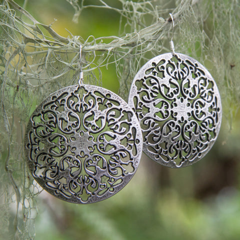 Oberon Design Hand-Cast Earrings
