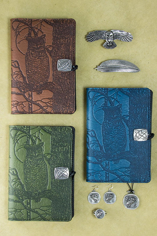Owl Journals and Jewelry